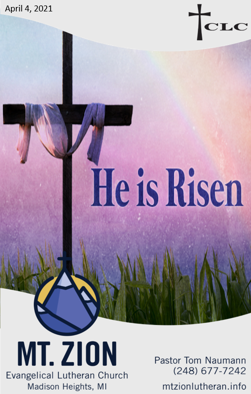 Easter Sunday – April 4, 2021