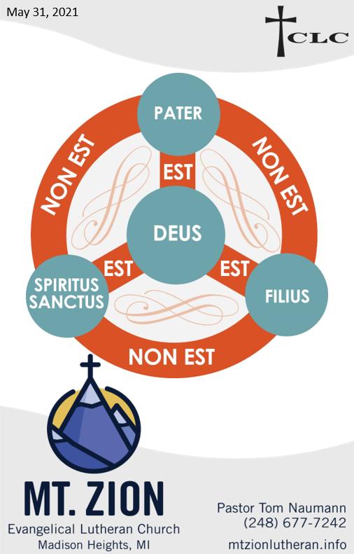 Trinity Sunday – May 30, 2021